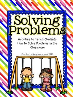 This back to school freebie includes lesson ideas, practice scenarios and a printable colored anchor chart to teach problem solving skills. Enough activities to teach problem solving skills for several days. Strategies and anchor chart perfect for grades K-5. Practice scenarios designed for K-2.