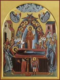 Assumption Of Mary, Church Interior, Orthodox Icons, Christian Faith, Ciel, Saints, Scene, Painting, Inspiration