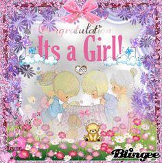 Elegant Congrats It's a Girl Photo Editor, Congratulations, Animation, Scrapbook, Elegant, Create, Birthday, Pictures, Design