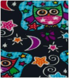 Anti-Pill Fleece Fabric Nighttime Owl Online Craft Store, Craft Stores, Fabric Shop, Joanns Fabric And Crafts, Fleece Fabric, Fabric Material, Night Time, Owl, Kids Rugs