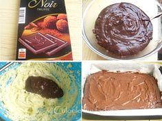 » Prajitura cu ciocolata, frisca si piersiciCulorile din Farfurie Dessert Cake Recipes, Desserts, Food Cakes, Chocolate Fondue, Muffin, Breakfast, Truffle, Tailgate Desserts, Cakes
