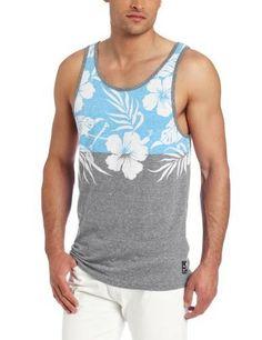 Shirt Large Billabong Sprint Haze or Vintage White  Tank Top T