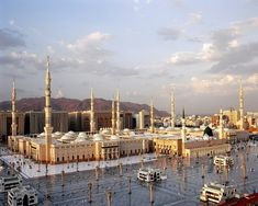 The Prophet Muhammad's Mosque in Madinah, Saudi Arabia. Second holiest site in Islam.