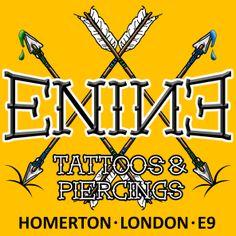 Digital image created for Enine Tattoo & Piercing Studio