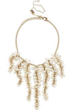 Rosantica|Amami 24-karat gold-dipped freshwater pearl necklace|NET-A-PORTER.COM