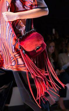 The SS 2014 Gucci Fringe Leather Shoulder Bag