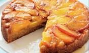 PEACH UPSIDE DOWN CAKE: A beautiful looking cake that is rich and delicious to eat  #peach #cake