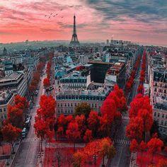 ❝ Los colores del atardecer en París ❞ ↪ Vía: Entretenimiento y Noticias de Tecnología en proZesa