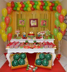 Fruit Birthday, Birthday Cake, Birthday Parties, Yalda Night, Fruit Party, Malu, Gifts For Kids, First Birthdays, Watermelon