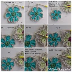 Atty's : Catona Flower Shawl Pattern/Tutorial