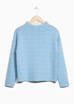 & Other Stories image 1 of Pixel Jacquard Sweater in Light Blue