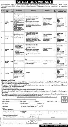 PO Box 1756 GPO Islamabad Jobs 2021