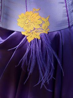 Robe de mariée violette et jaune   Carole CELLIER, créatrice de robes de mariée