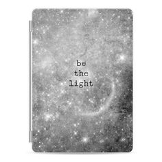 Be the light bw - iPad Cover / Case ($50) ❤ liked on Polyvore featuring accessories, tech accessories, other, ipad cover / case, ipad sleeve case, ipad cover case, apple ipad cover case, ipad cases and apple ipad case