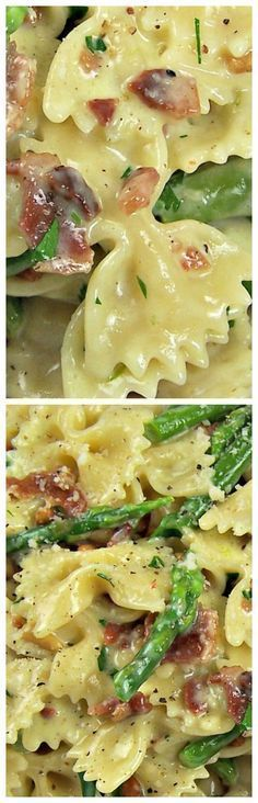 Creamy Pasta with Asparagus & Bacon ~ This is restaurant quality stuff... Deliciousness!