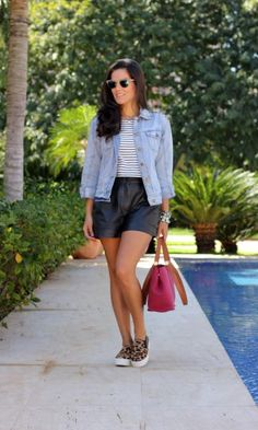 Look do Dia: cropped and shorts!