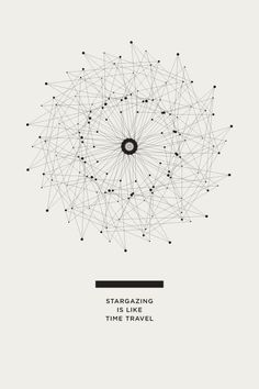 Stargazing is like Time Travel THE UNIVERSE POSTERS - Amanda Mocci #posters #design #infographics