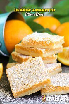 Orange Amaretto Citrus Bars