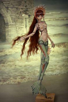 mermaid art doll ooak