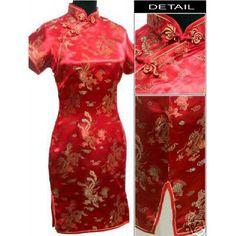 Red Chinese Traditional Dress Bridal Wedding Cheongsam Women s Silk Satin  Qipao Oversize S M L XL XXL XXXL 4XL 5XL 6XL S026-B 44dc583f2553