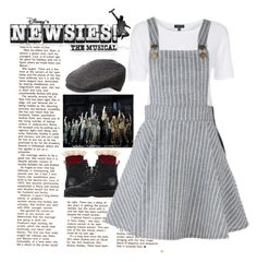 """""""Sezie the Day! -Newsies"""" by divinitimarie on Polyvore featuring Topshop, Amicale, Free People, Giuseppe Zanotti and vintage"""