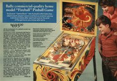 Bally Fireball Home Model Pinball 1977. I promise to find this again. Art Studio