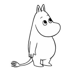 Moomintroll (Swedish: Mumintrollet) is the main character in the Moomin books by Tove Jansson. He lives in the Moominhouse together with his father Moominpappa and his mother Moominmamma and has a keen spirit of adventure. Moomintroll is a'moomin' - a little white troll with a hippopotamus-like big round nose. His best friend is Snufkin, though he has other friends, including Sniff. It is hinted many times that he is in love with the Snork Maiden.