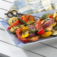 Enhance the grilled flavor of vegetables with this lightly sweet and spicy blend of seasonings. If using precook the sweet potato in the microwave so that it needs just a few minutes of grilling to brown.