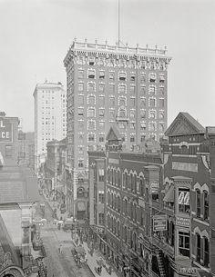 Providence, Rhode Island, 1910.Westminster Street, Providence RI.Vintage Rhode Island photography, Providence art print.