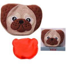 Cute Knitted Hand Warmer - Pug