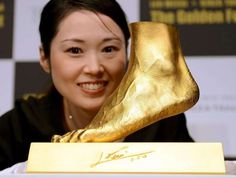 Messi's Left Foot Gold Sculpture by Ginza Tanaka for $5,250,000