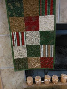 Machine quilted Table Runner   Holiday in the Pines by Joanna1966,