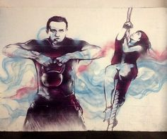 New crossfit / gym mural for WOD House - A functional fitness centre based in Cardiff