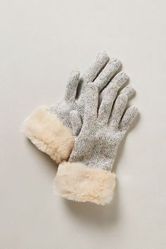 Cozy gloves with faux fur trim -- bound to be a hit.