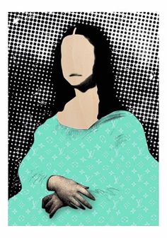 """Lisa doesnt smile any more green £180.00  By ANDREA VISCONTI   limited edition of 29 pieces size  50 x70  cm Giclee print on fine art paper .  """"Lisa doesnt smile any more""""  http://www.deepwestgallery.co.uk/product-page/0aa13f70-c8f7-e86c-0e4d-f9d58abf2e25"""