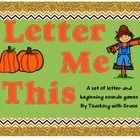 Fall is in the air! The games in this set focus on different letters and sounds through games to make learning for your students more fun! I have i...