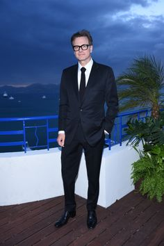 Colin Firth enjoying the view of our Chopard Rooftop at the Trophée Chopard afterparty Cannes 16 May 2015 Colin Firth, Andrew Davies, David Morrissey, Cannes 2015, Mr Darcy, Bridget Jones, Kingsman, Hollywood Star, Chopard