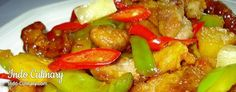 Babi Manis dan Masam - Pork with pineapple in a sweet 'n sour sauce