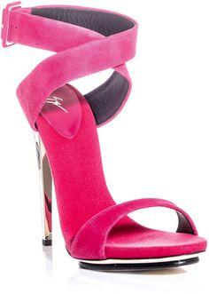 aafb558fe6c8 Giuseppe Zanotti - Pink Metal Heel Sandals - Lyst