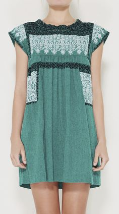 Isabel Marant Étoile Green, White And Black Dress