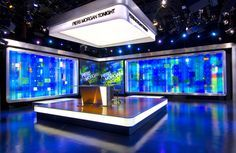 Jack Morton offers an array of broadcast set design services. We've created some of the world's most recognizable news, sports and talk show sets. Tv Set Design, Stage Design, Event Design, News Design, 3d Studio, Studio Setup, Studio Design, News Studio, Modern Tv Units