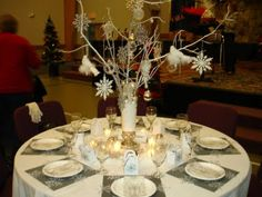 ladies brunch, themed Christmas tables