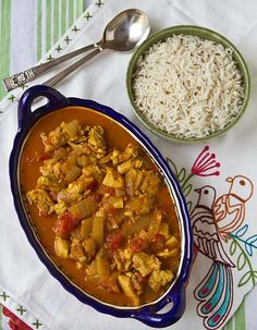 Cancun Chicken Curry with Basmati Rice Recipe