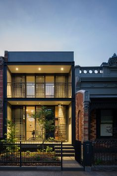 The Mills Gorman architectural firm are synonymous for practical and innovative design missions. 2 Storey House Design, Small House Design, Industrial Home Design, Industrial House, Balcony Railing Design, Modern Apartment Design, Australian Architecture, Minimalist House Design, Home Design Plans