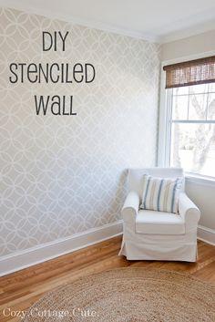 Stenciled wall.