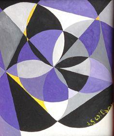 Small geometry n. 5 by Jg Wilson  oil on cardboard
