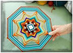 How to, tutorial, Gods eye, DIY: Weaving a Complex Ojo de Dios Yarn Crafts, Diy And Crafts, Crafts For Kids, Arts And Crafts, Weaving Projects, Art Projects, Eye Mandala, God's Eye Craft, Gods Eye