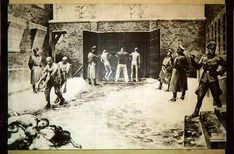 A firing squad executed prisoners in the walled-off yard, block #11. Approximately 5,500 prisoners were killed at the wall.