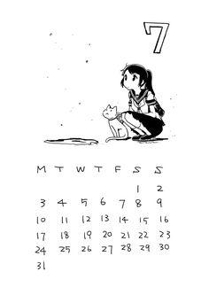 July 2017 Calendar | Tachibana Lita on Patreon