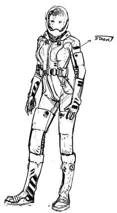 Sif's spacesuit concept by Valerio Schiti.